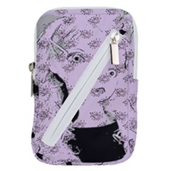 Wide Eyed Girl Lilac Belt Pouch Bag (large)