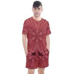 Background Floral Pattern Men s Mesh Tee And Shorts Set by Jojostore