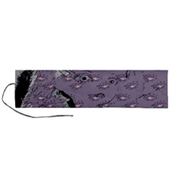 Wide Eyed Girl Grey Lilac Roll Up Canvas Pencil Holder (l) by snowwhitegirl
