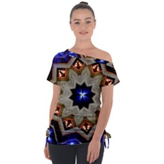 Background Mandala Star Tie Up Tee by Mariart