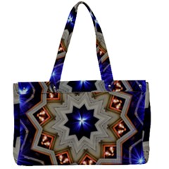 Background Mandala Star Canvas Work Bag by Mariart