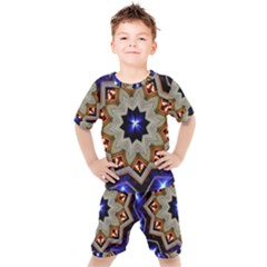 Background Mandala Star Kids  Tee And Shorts Set by Mariart