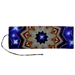 Background Mandala Star Roll Up Canvas Pencil Holder (m)