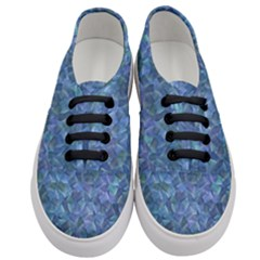 Background Blue Texture Women s Classic Low Top Sneakers