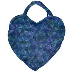 Background Blue Texture Giant Heart Shaped Tote
