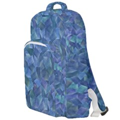 Background Blue Texture Double Compartment Backpack