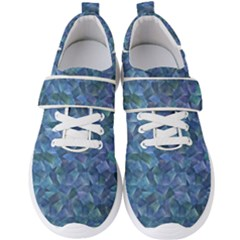 Background Blue Texture Men s Velcro Strap Shoes by Alisyart