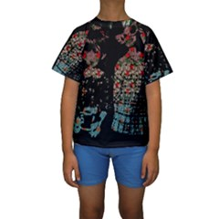Coffee Anyone Kids  Short Sleeve Swimwear
