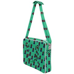 Nerdy 60s  Girl Pattern Seafoam Green Cross Body Office Bag by snowwhitegirl