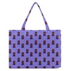 Nerdy 60s  Girl Pattern Purple Zipper Medium Tote Bag by snowwhitegirl