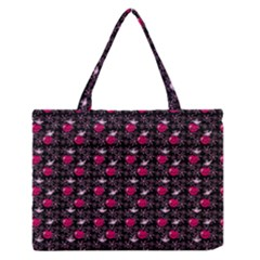 Cherries An Bats Black Zipper Medium Tote Bag by snowwhitegirl