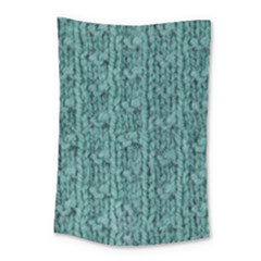Knitted Wool Blue Small Tapestry by snowwhitegirl