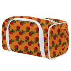 Red Roses Orange Toiletries Pouch