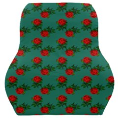 Red Roses Teal Green Car Seat Back Cushion