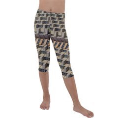 Architecture Geometry Kids  Lightweight Velour Capri Leggings  by Simbadda