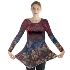 Fractals 3d Graphics Designs Long Sleeve Tunic
