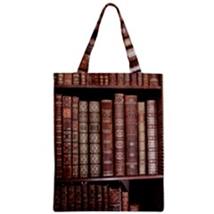 Library Books Knowledge Zipper Classic Tote Bag
