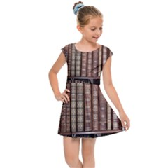 Library Books Knowledge Kids  Cap Sleeve Dress by Simbadda