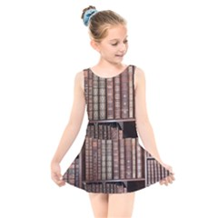 Library Books Knowledge Kids  Skater Dress Swimsuit