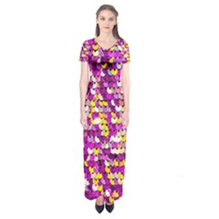 Funky Sequins Short Sleeve Maxi Dress by essentialimage