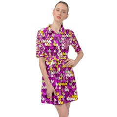 Funky Sequins Belted Shirt Dress by essentialimage