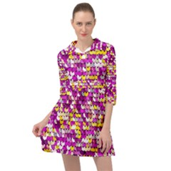 Funky Sequins Mini Skater Shirt Dress by essentialimage