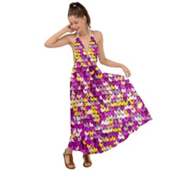 Funky Sequins Backless Maxi Beach Dress