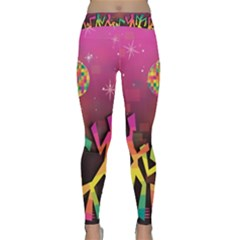 Dancing Colorful Disco Classic Yoga Leggings
