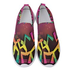 Dancing Colorful Disco Women s Slip On Sneakers