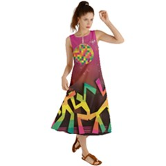 Dancing Colorful Disco Summer Maxi Dress