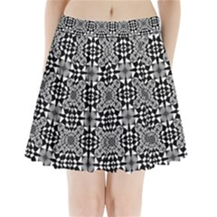 Fabric Geometric Shape Pleated Mini Skirt