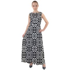Fabric Geometric Shape Chiffon Mesh Boho Maxi Dress