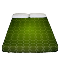 Hexagon Background Plaid Fitted Sheet (queen Size)