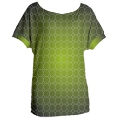 Hexagon Background Plaid Women s Oversized Tee by Mariart