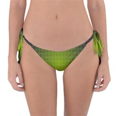 Hexagon Background Plaid Reversible Bikini Bottom