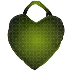 Hexagon Background Plaid Giant Heart Shaped Tote