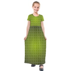 Hexagon Background Plaid Kids  Short Sleeve Maxi Dress by Mariart