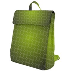 Hexagon Background Plaid Flap Top Backpack