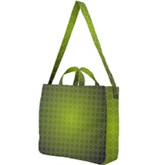 Hexagon Background Plaid Square Shoulder Tote Bag by Mariart