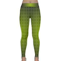 Hexagon Background Plaid Classic Yoga Leggings