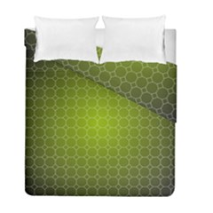 Hexagon Background Plaid Duvet Cover Double Side (full/ Double Size)