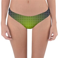 Hexagon Background Plaid Reversible Hipster Bikini Bottoms