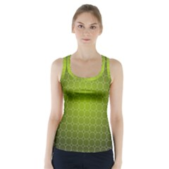 Hexagon Background Plaid Racer Back Sports Top