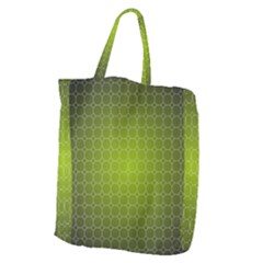 Hexagon Background Plaid Giant Grocery Tote