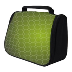 Hexagon Background Plaid Full Print Travel Pouch (small)