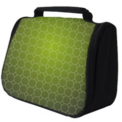 Hexagon Background Plaid Full Print Travel Pouch (big)
