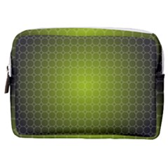 Hexagon Background Plaid Make Up Pouch (medium)