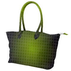 Hexagon Background Plaid Canvas Shoulder Bag