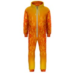 Fractal Yellow Orange Hooded Jumpsuit (men)  by Jojostore