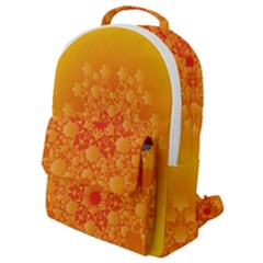 Fractal Yellow Orange Flap Pocket Backpack (small)